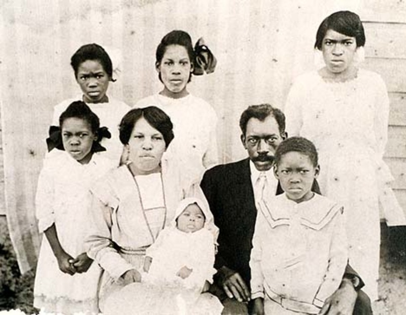 Effie Jackson (Franklin) with her parents and Siblings