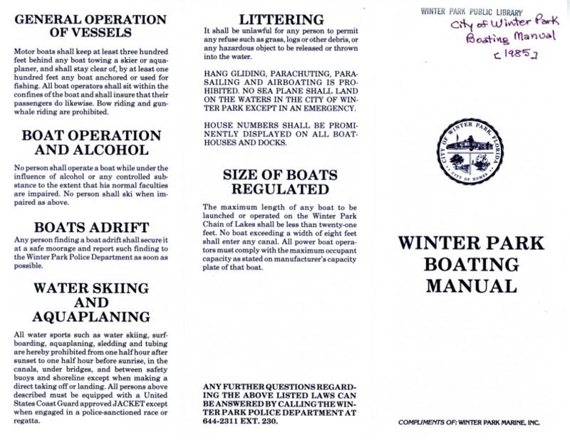 Winter Park History General - Boating Manual_1.pdf
