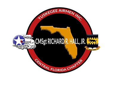 CMSgt Richard R. Hall, Jr. THE CENTRAL FLORIDA CHAPTER TUSKEGEE AIRMEN, INC. Logo