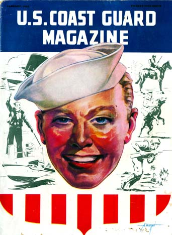 The cover of the U. S. Coast Guard Magazine dated January 1944