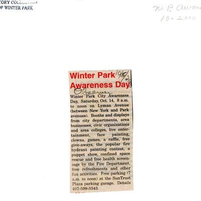 Winter Park Awareness Day