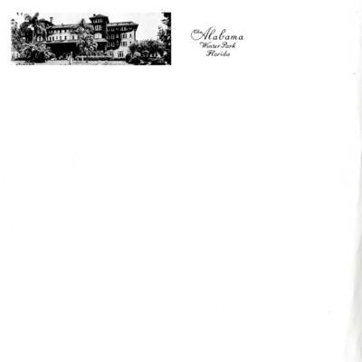 Alabama Hotel Stationery