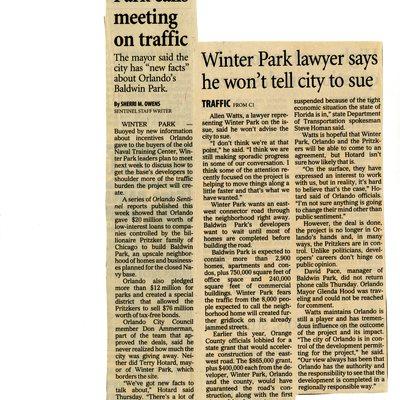 Winter Park calls meeting on traffic