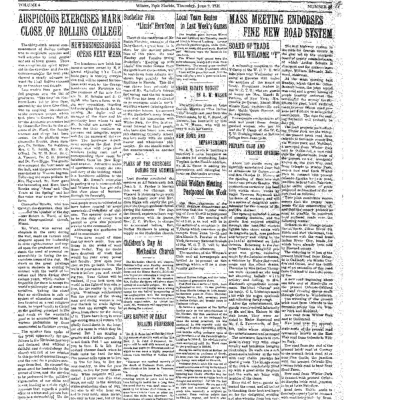 June 9, 1921