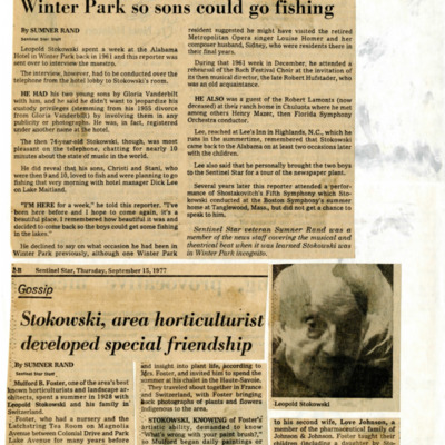 Under false name, the maestro visited Winter Park so sons could go fishing