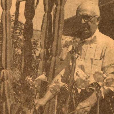 Photograph of Foster Fanning in Central Street Garden