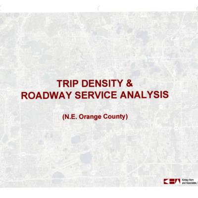 Trip Density & Roadway Service Analysis