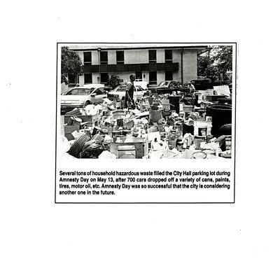 Several tons of household hazardous waste