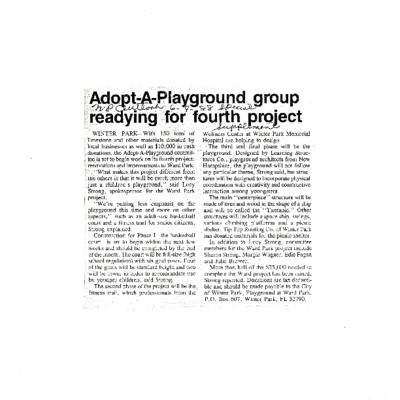 Adopt-A-Playground group readying for fourth project.