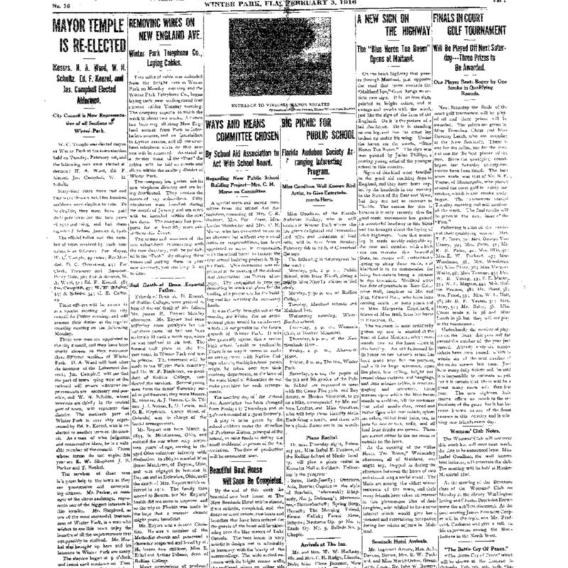February 3, 1916