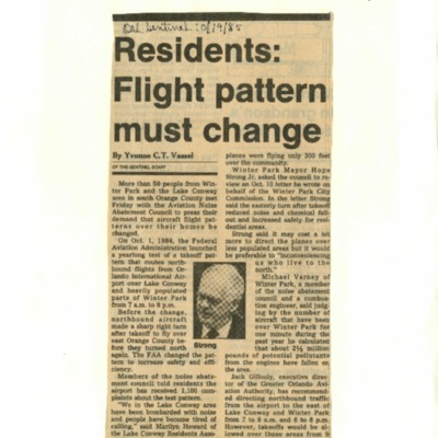 Residents: Flight Patterns Must Change