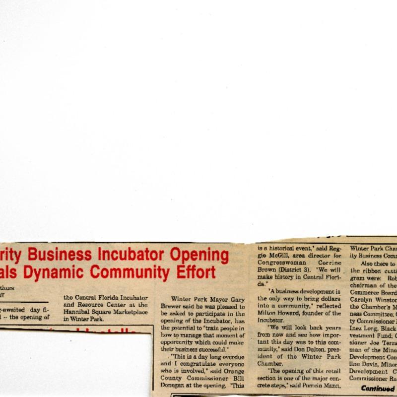 Minority Business Incubator Opening Signals Dynamic Community Effort