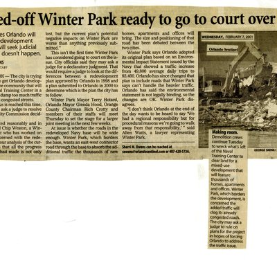 Ticked-off Winter Park ready to go to court over NTC plan