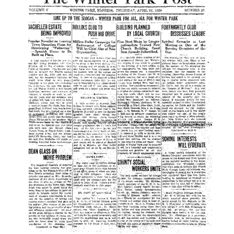 April 22, 1920
