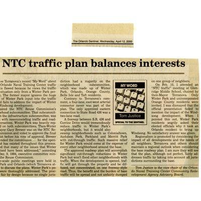 NTC traffic plan balances interests