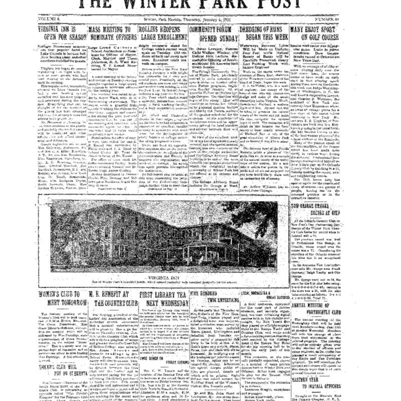 January 6, 1921