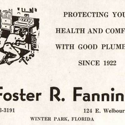 Advertisement For Foster Fanning Plumbing