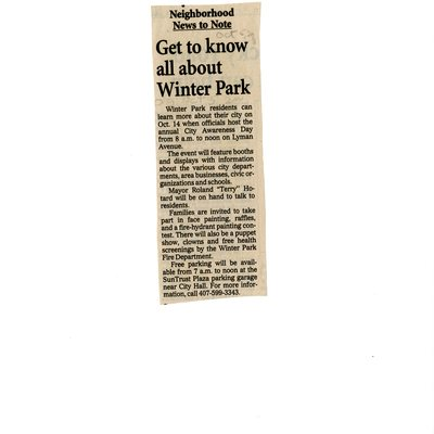 Get to know all about Winter Park