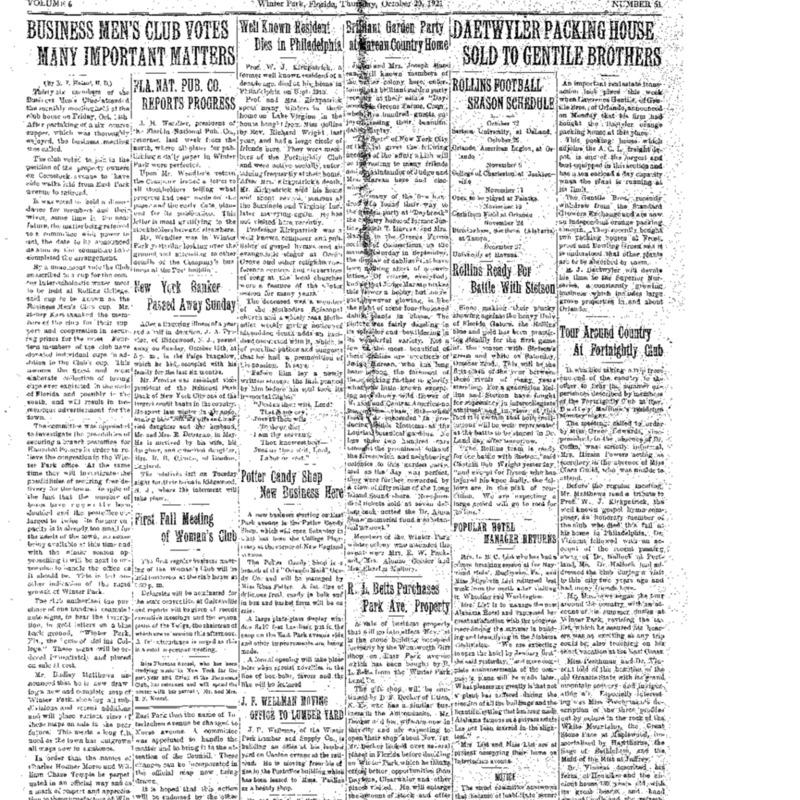 October 20, 1921